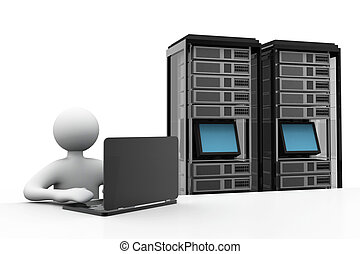 servidor, red, concepto