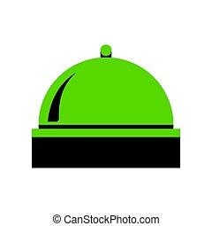 servidor, señal, illustration., vector., verde, 3d, icono, con, negro, lado