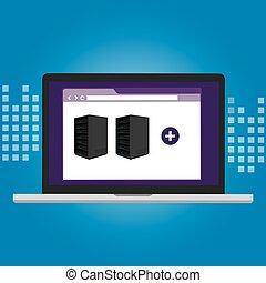 servidor, virtualization, software, él, infraestructura, dirección