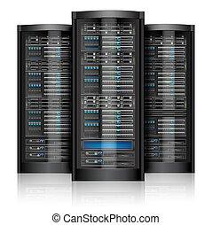 servidores, isolado, rede