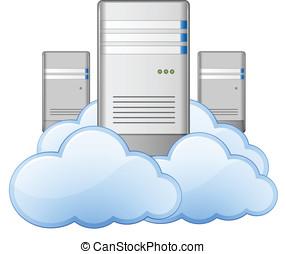 servidores, y, nubes