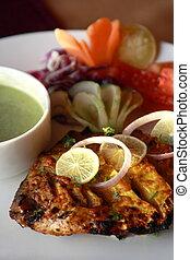servierplatte, indien, kebab