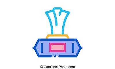 serviette, animation, nasse, ikone, paket