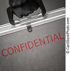 serviette, confidentiel