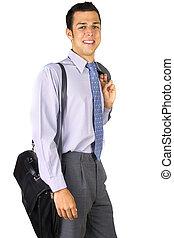 serviette, homme affaires