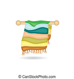 serviette, icône