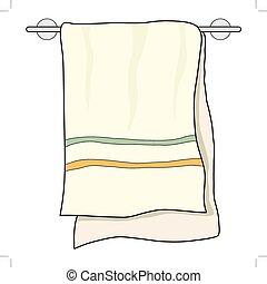 serviette, objet, apparenté, maison