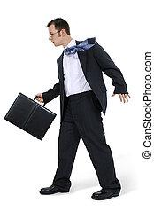 serviette promenade, homme affaires