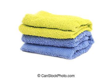 serviette, sur, fond blanc