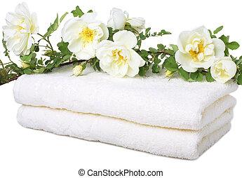 serviettes, bain