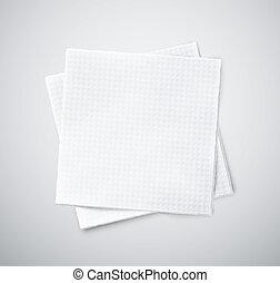 serviettes, deux