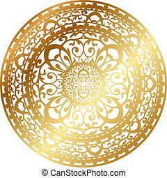 servilleta, alfombra oriental, oro, /