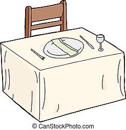 servilleta de mesa, placa