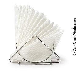 servilleta de mesa, tenedor, servilletas