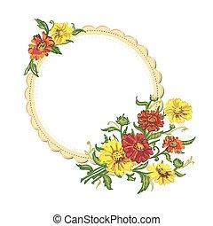 servilleta, flores
