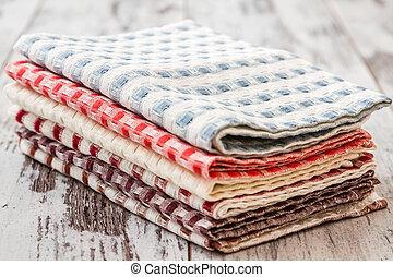 servilletas, colorido, cocina