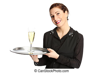 Serving champagne
