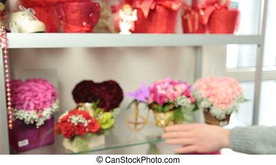 Serving Customer in Flower Shop