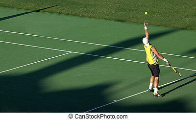 Serving - Professional Tennis Player Serving