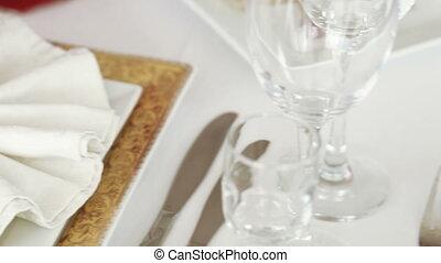 Serving table banquet