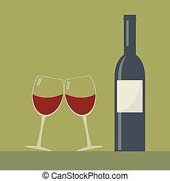 Serving wine.