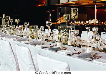 servito, tavola, banchetto, coperto, ristorante