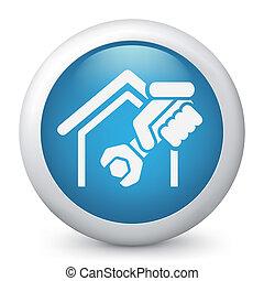 servizi, casa, professionale, icona