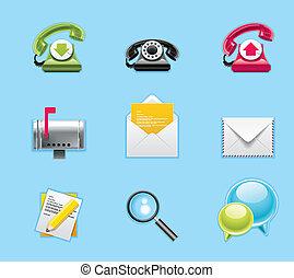 servizi, domande, icone