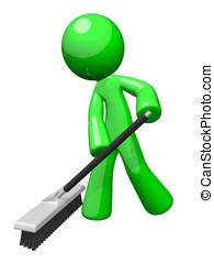 servizi, verde, uomo, pulizia, ambientale