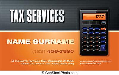 servizi, vettore, tassa, scheda affari