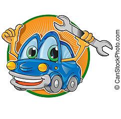 servizio automobile, cartone animato