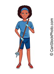 servizio, carattere, persona, avatar, cartone animato, pulizia
