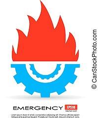 servizio emergenza, icona