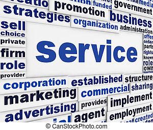 servizio, manifesto, disegno