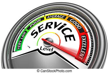 servizio, metro, livello