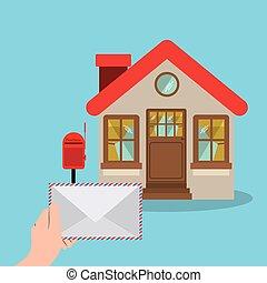 servizio postale, disegno