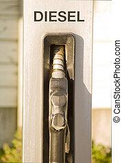 servizio, spazio, -, ugello, diesel, stazione, carburante,...