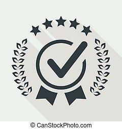 servizio, valute, cinque, stelle, qualità, assegno