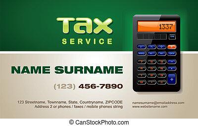 servizio, vettore, tassa, scheda affari
