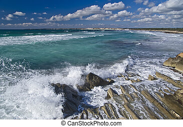 ses covetes beach in majorca