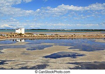 Ses Salines Formentera saltworks horizon balearic islands