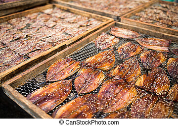 Sesame dried fish