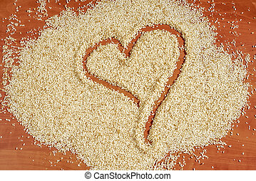 sesame heart background