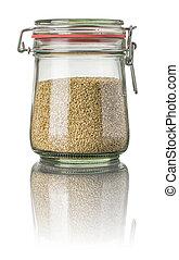 Sesame in a jar