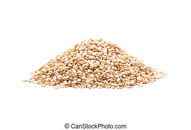 Sesame on white background