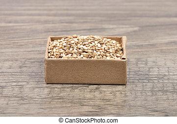 Sesame on wood