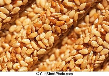 Sesame seeds cookies macro