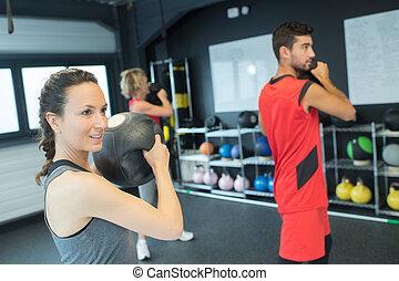 sesión, condición física