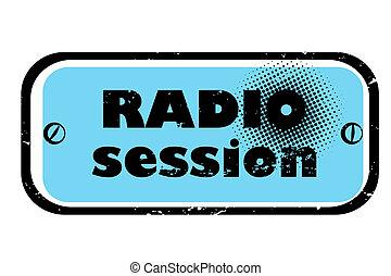 sesión, radio