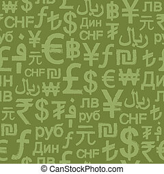 Sesmless Grunge International Money - A seamless pattern of...